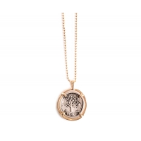 Antique Coin Tree Of Life Pendant Necklace