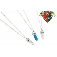Howlite Or Crystal Pendant Necklace