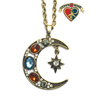 Moonbeams and Stars Gemstone Necklace
