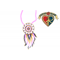 Cherokee People Seed Bead Dreamcatcher Necklace