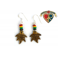 Leaf Of Fall Carved Bone Earrings