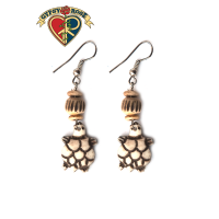 Baby Turtles Hand Carved Bone Earrings