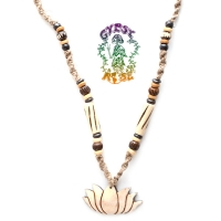 Lotus Of Love Carved Bone Necklace