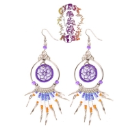 DREAMCATCHER IN A ROUND DANGLE EARRING