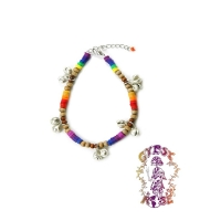 RAINBOW FIMO JANGLE ANKLET/BRACELET