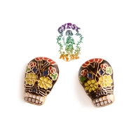 Day Of The Dead Post Earrings