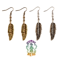 Fly By Night Feather Dangle Earrings