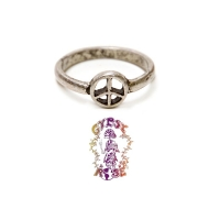 GIVE PEACE A CHANCE PEWTER RING