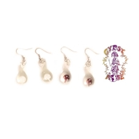 GLASS MUSHROOM EARRINGS