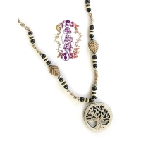 LIFE'S FORCE HEMP/BONE NECKLACE