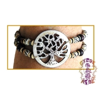 LIFE'S FORCE HEMP & BONE ADJUSTABLE BRACELET