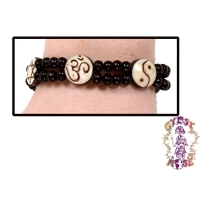 COEXIST SYMBOLS BEADED STRETCH BRACELET