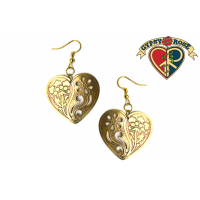 METAL HEART CUT OUT EARRINGS