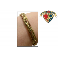 TRINITY COIL BRAID BRASS COPPER & BRONZE BRACELET