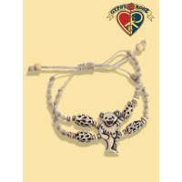 Dancing Bear Grateful Dead Hand Carved Bone Bead He Bracelet