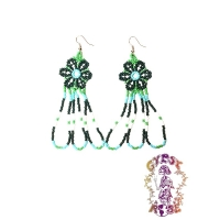 RIGHT ON, LOVE MAMA! SEED BEAD FLOWER EARRINGS
