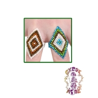 LUCY'S DIAMONDS IRIDESCENT SEED BEAD RING