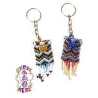 WHISPER DREAMS SEED BEAD MINI SATCHEL KEYCHAIN