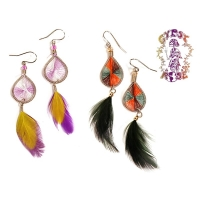 Threaded Weave Feather Earring