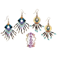 NATIVE SPIRIT HAND PAINTED DANGLE EARRINGS