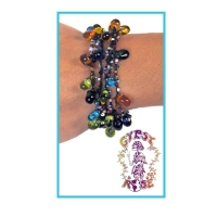 Shake Rattle & Roll Six Row Glass Bead Bracelet