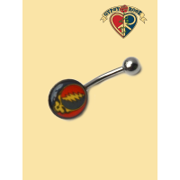 Grateful Dead Steal Your Face Belly Ornament Body Jewelry