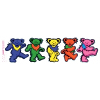 GRATEFUL DEAD XL SEPARATED DANCING BEARS STICKER