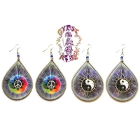 ASSORTED PERUVIAN TEAR DROP THREAD EARRINGS