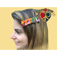 No Hurry To Worry Hair Clip with Worry Dolls