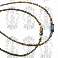 ASSORTED FIMO TUBE BEAD CHOKER