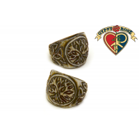 CELTIC KNOT AND TREE BONE RING