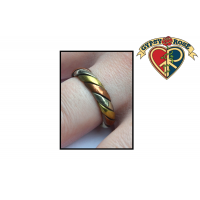 Three Metal Twist Band Ring