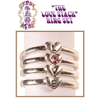 LOVE STACK RING SET GOLD OR SILVER