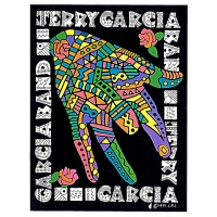 Jerry Garcia Band Mosaic Hand Sticker