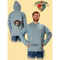 Grateful Dead Skull and Roses Fine Cotton Hoodie
