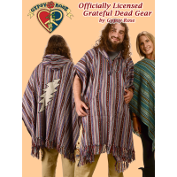 Grateful Dead Bolt Applique Brushed Gheri Poncho