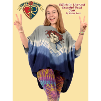 Grateful Dead Skull and Roses Tye Dye Viscose Capelet