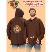 Grateful Dead G/D And Tribal Steal Your Face Hand Embroidered Cotton Hoodie