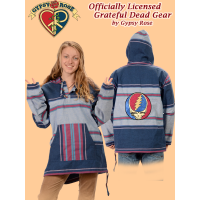 Grateful Dead Steal Your Face Hand Embroidered Striped Shyama Hoodie