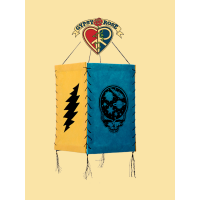 Stealie The Night Away and Bolts Grateful Dead 4 Sided Lantern