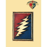 Classic Grateful Dead Bolt Hand Carved and Painted Wall Hanging
