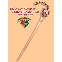 Grateful Dead Bear Face Hand Carved Bone Hairstick