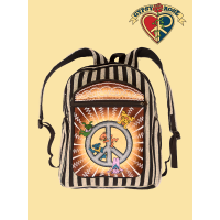 Grateful Dead Dancing Bears Hangin With Peace Embroidered Gheri Backpack