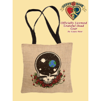 Grateful Dead Space Your Face Hemp and Cotton Tote Bag
