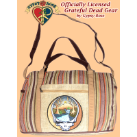 Grateful Dead Steal Your Mountain Stream Hand Embroidered Hemp And Gheri Travel Bag