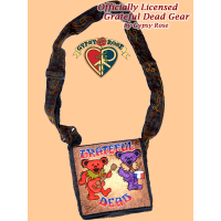 Grateful Dead Bears In The Band Hand Embroidered Messenger Bag