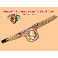 Grateful Dead Steal Your Face Hand Embroidered Gheri Hiprider Belt Bag