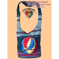 Grateful Dead Steal Your Face Hand Embroidered Shyama Peddler Bag