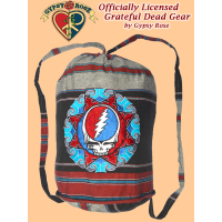 Grateful Dead Steal Your Face Hand Embroidered Shyama Drawstring Backpack