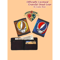 Grateful Dead Steal Your Face Hand Embroidered Bifold Wallet